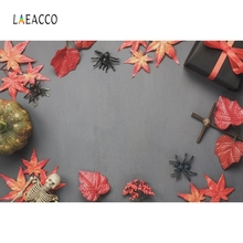 Laeacco Solid Color Maple leaves Backdrop Photography Backgrounds Customized Photographic Backdrops For Photo Studio стоимость
