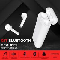 X8T TWS Wireless Bluetooth Earphone Headset Binaural Calls Auto Connection Headphones with 3000mAh Large Capacity Charging Case