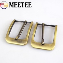 meetee 5Pcs Men Belt Buckle 35mm Metal Pin Fashion Jeans Waistband Buckles For 33-34mm DIY Leather Craft Accessories