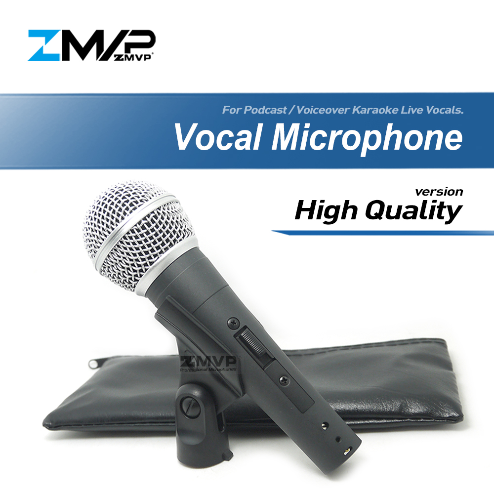 High Quality Version SM58S Live Vocals Karaoke Dynamic SM58 SM58SK Cardioid Wired Microphone Podcast Microfone Voiceover Mic