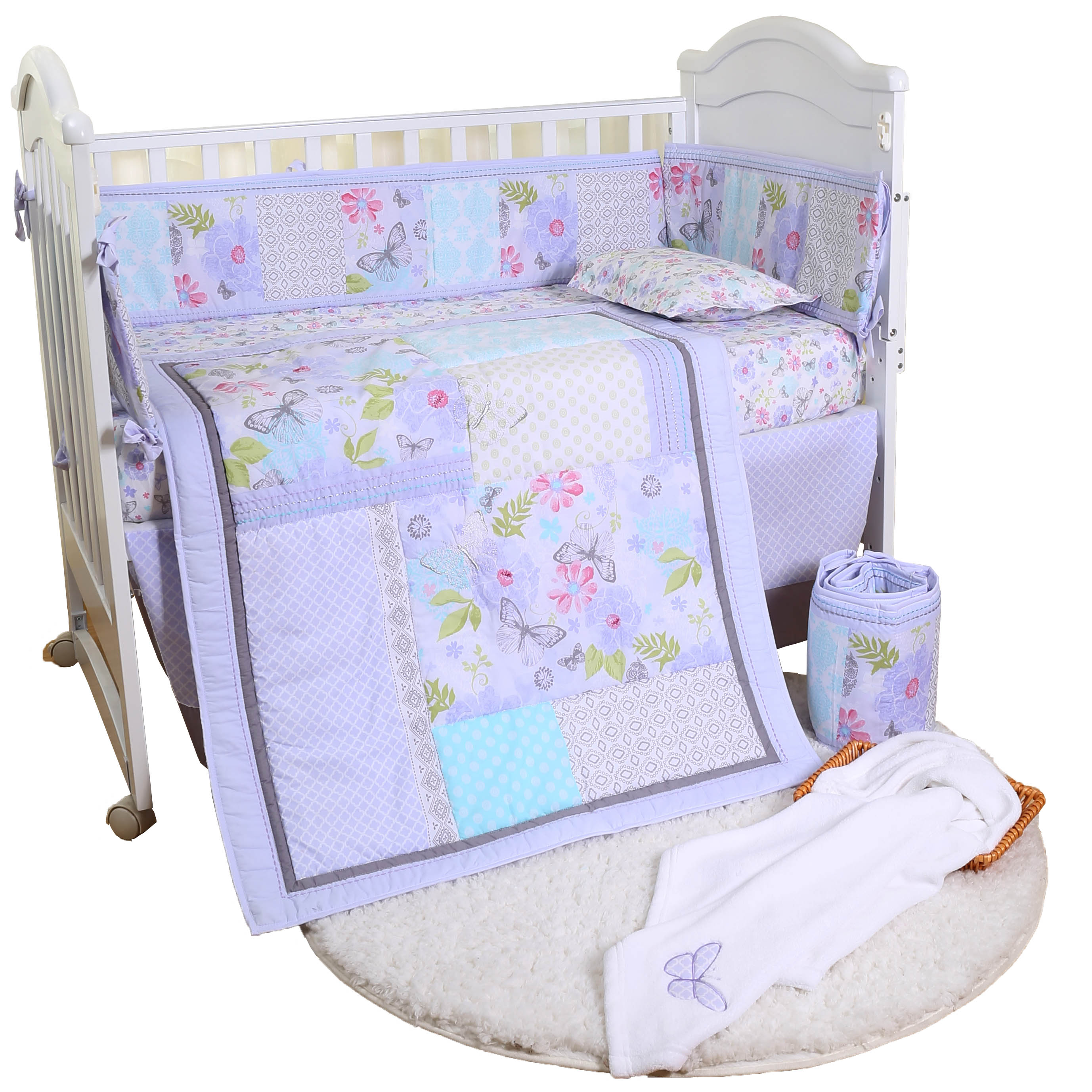 easy cleaning cute new manufactured competitive price applique baby bedding set
