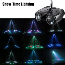 SHOW TIME LED doble cabeza airship Luz de flores y Luna entretenimiento en casa DJ iluminación para fiesta discoteca trabajo de sonido cartón bloque de construcción