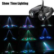 ZEIGEN ZEIT LED doppel kopf luftschiff Mond blume licht Home entertainment DJ party Disco licht Sound arbeit Karton Gebäude block(China)