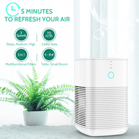 GBlife PM1232A Air PurifierTable HEPA Air Purifier 3 Layers Filter Sleep Friendly Air Cleaner Machine For Home Room Office M2