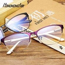 Iboode-gafas de lectura tipo Ojo de gato para hombre y mujer, gafas ópticas para ordenador Retro, antifatiga, presbicia