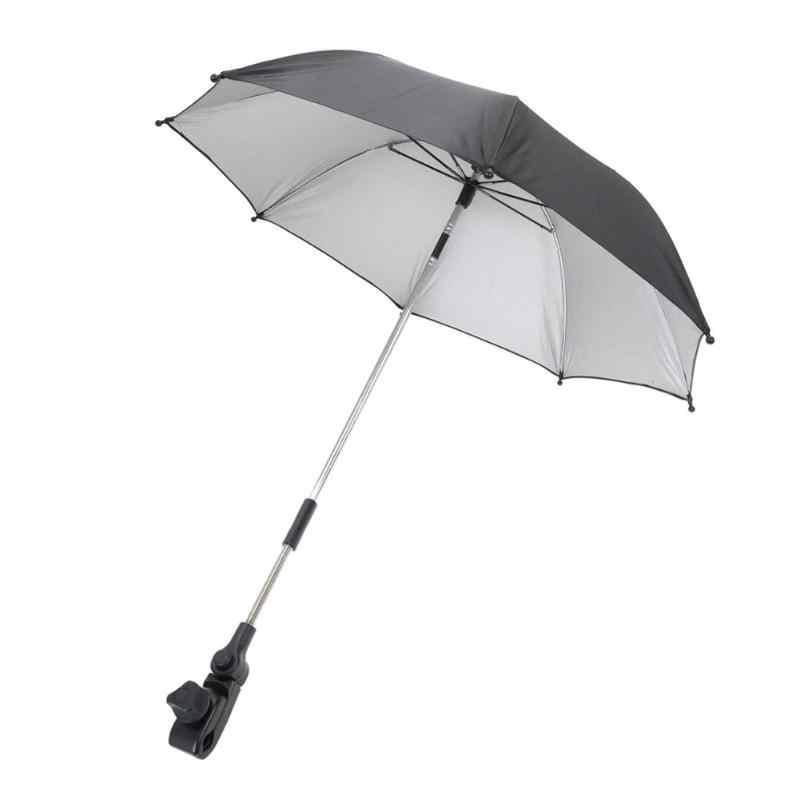 2019 нейлон Защита от солнца навес стрейч стенд держатель 360 градусов коляска Зонты регулируемая, для прогулок с малышом зонтик детская коляска интимные аксессуары
