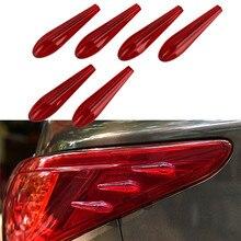 6pcs/set Car Styling Mouldings Bumper Spoiler Sticker Auto Splitter Protector for Lada Granta Infiniti q50 Universal