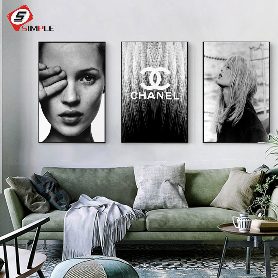 Art Print POSTER CANVAS Kate Moss