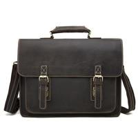 Luxury Men's Briefcase Genuine Leather Men Bag Business Leather Briefcase Men Fashion Retro Laptop Bag Men Shoulder Bags