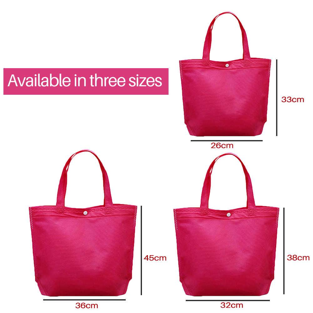 Bolsa de compras plegable reutilizable Eco grande Unisex bolsa de mano de almacenamiento de viaje bolso de hombro bolsas de compras de lona de mujer