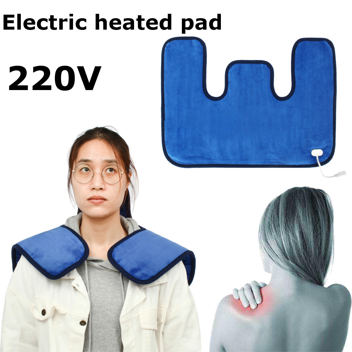 Electric Heating Moxibustion Neck Shoulder Cervical Pad Shawl Massage Blanket Therapy for Relief Pain Body Health CareElectric Heating Moxibustion Neck Shoulder Cervical Pad Shawl Massage Blanket Therapy for Relief Pain Body Health Care