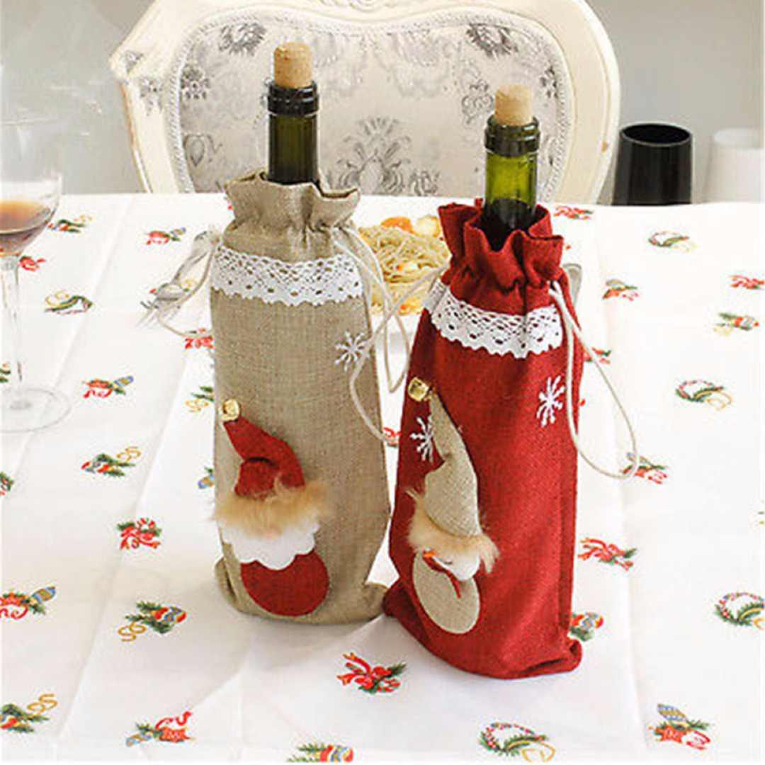 1 шт. крышка бутылки вина Рождественская Фигурка Санта снеговик Настольный праздничный Декор Рождественский орнамент подарок