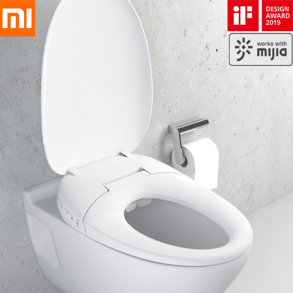 Original Xiaomi Mijia Smart Drying Comfortable Toilet Lid With LED Luminous Lighting 220V Waterproof  App Control For Smart Home