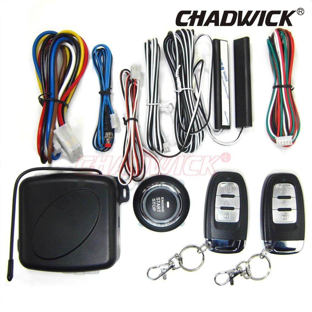 Bouton de démarrage moteur CHADWICK 886 voiture SUV système d'entrée sans clé démarreur à distance arrêt système d'alarme automatique bouton poussoir pour vw universal
