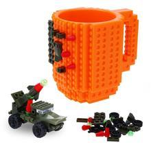 DIY строительные блоки, чашка со сборкой, кирпичная кружка,, для путешествий, для детей, столовые приборы для взрослых, посуда для напитков, набор для детей, подарок на год, креативный