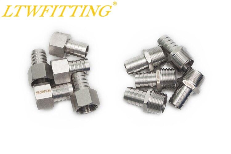 Pack de 5 LTWFITTING 316 BSP tuber/ía de acero inoxidable de 1//2 pulgadas x 1//4 pulgadas hembra BSPP reductor acoplamiento barco aire combustible