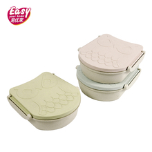 Cute Owl Lunch Box For Kids Leakproof Microwave Portable Wheat Straw Bento Food Storage Container Children School