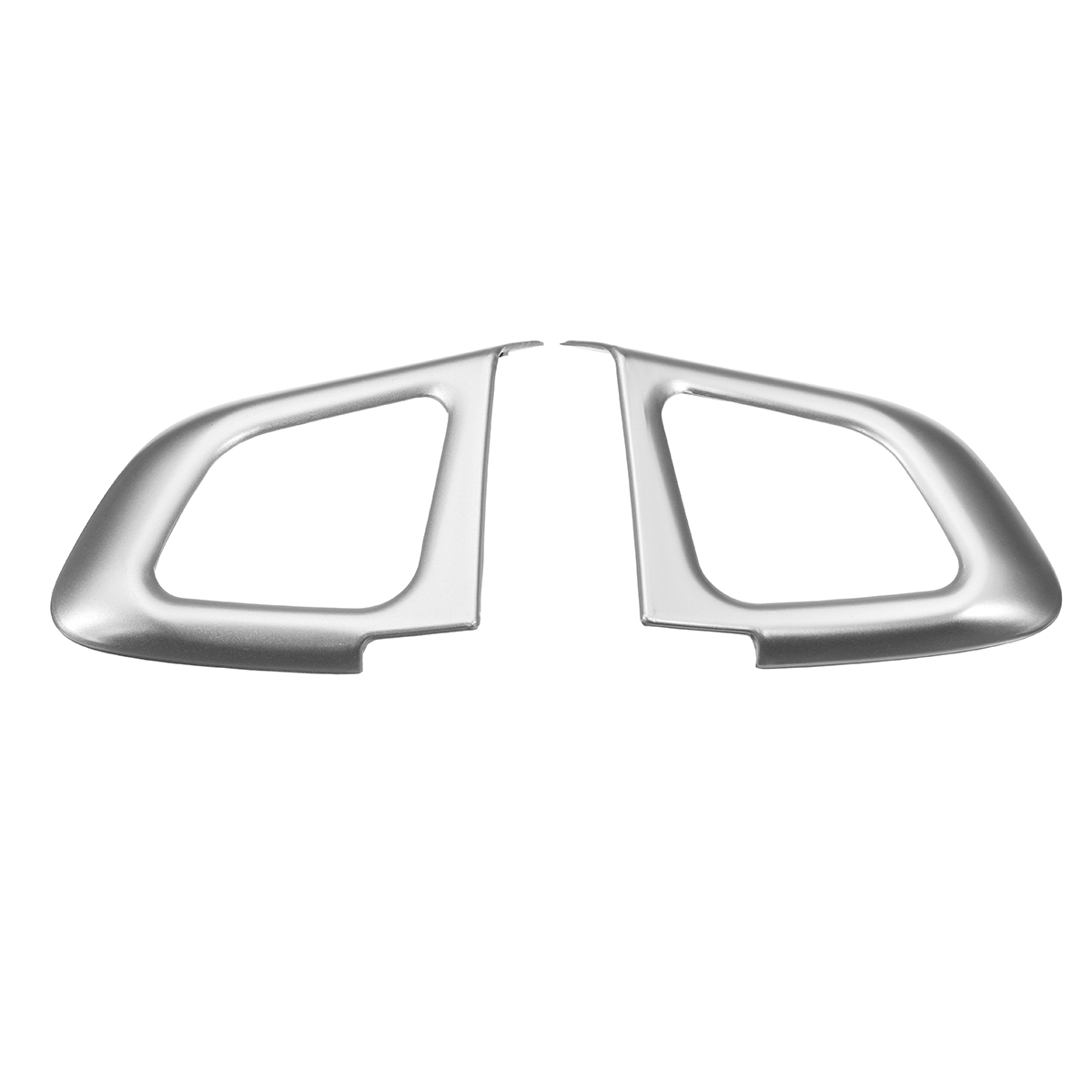 1Pair Car Interior Steering Wheel Button Frame Trim Cover  Chrome Decoration For Range Rover For Land Rover Evoque 2012-2016