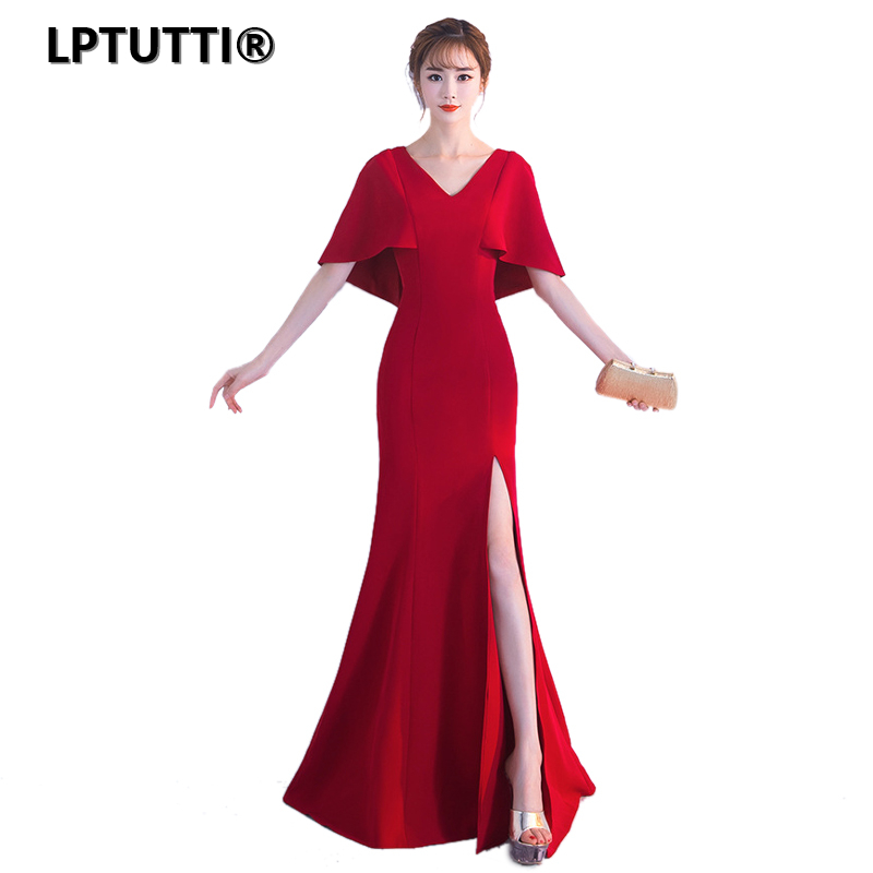 LPTUTTI Chiffon New For Women Elegant Gown Date Ceremony Party Prom Formal Gala Luxury Long   Evening     Dress   A01