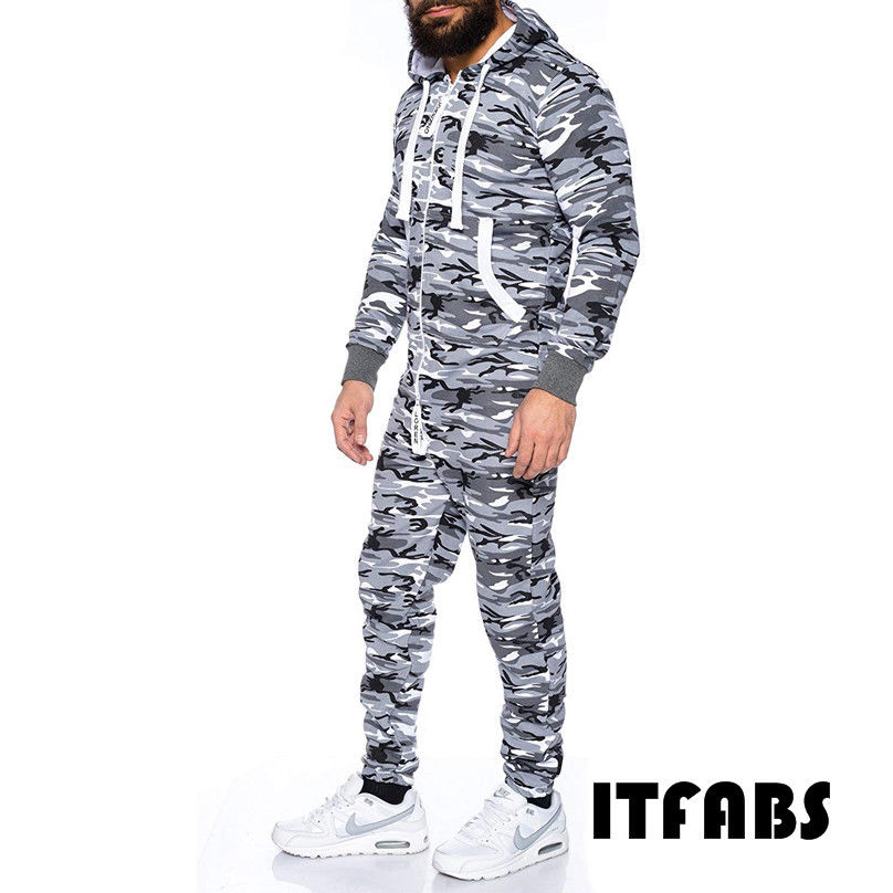 Flight Tracker 2019 Winter Mannen Camouflage Gedrukt Playsuit Een Stuk Volwassen Mens Vrouwen Superman Hooded Rits Jumpsuit Plus Size 3xl Modieuze Patronen