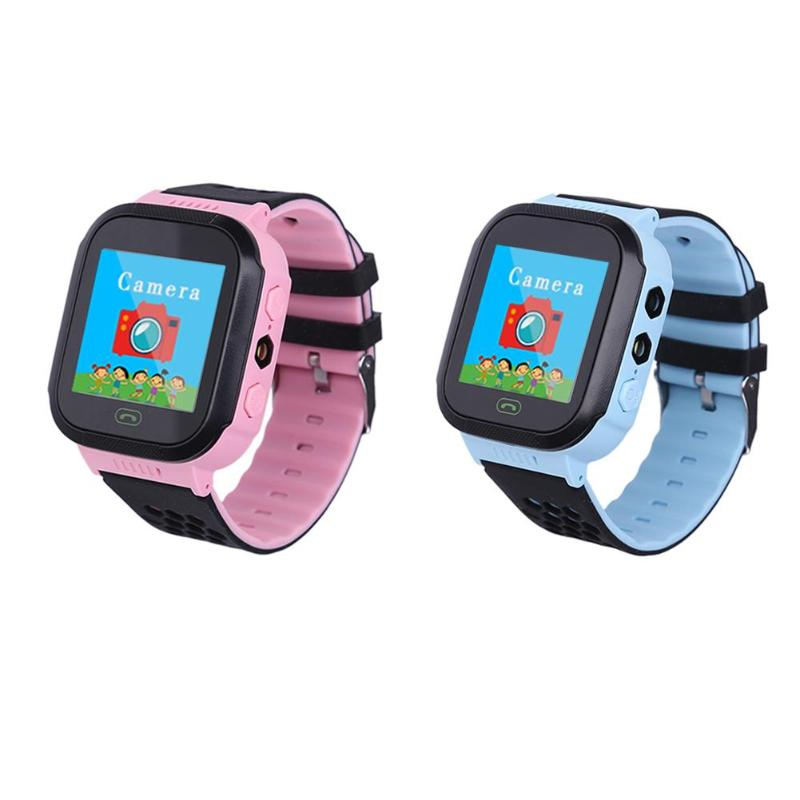 Kids Smart Watch Wristwatch 1.44 Inches Touch Screen LBS Positioning Remote Monitoring Smartwatch Lighting SOS Watch SIM Calls V