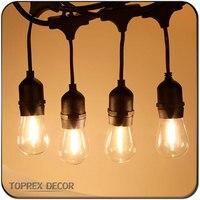 110V 220V 10m / 32.8ft E27 festoon lights lamp holder belt lights commercial patio light stringer christmas party decor outdoor