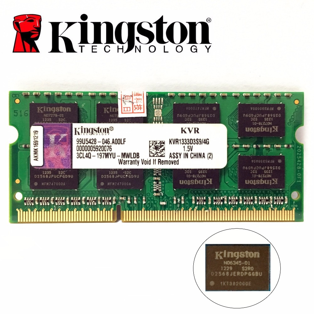 <font><b>Kingston</b></font> chipsatz Speicher <font><b>RAM</b></font> Memoria Modul Notebook laptop 1gb 2gb 8gb 4GB 4G PC3 <font><b>DDR3</b></font> 1333 1600 MHZ 10600 12800 <font><b>RAM</b></font> image