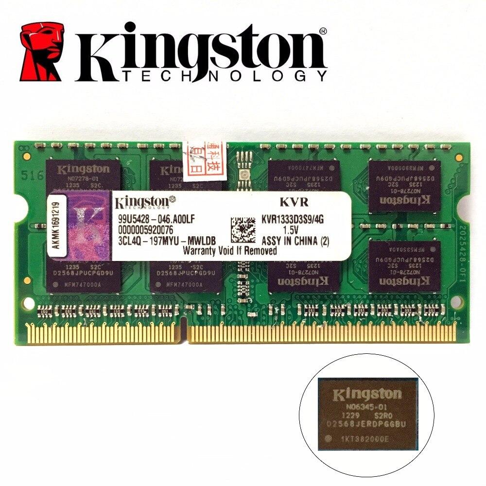 Kingston chipset Mémoire RAM Memoria Module Notebook ordinateur portable 1 gb 2 gb 8 gb 4 gb 4g PC3 DDR3 1333 1600 mhz 10600 12800 RAM