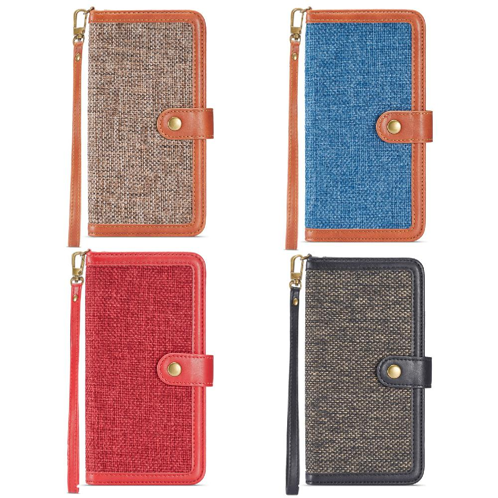 Wallet-Stand Phone-Case Samsung S8 Group Vertical for Retro 2-in-1/Linen/Pu/..