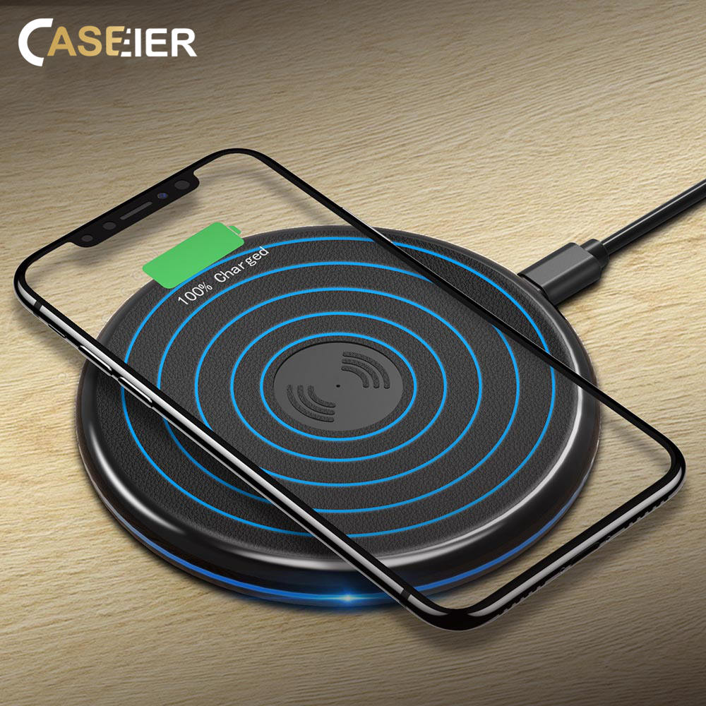 CASEIER Wireless-Charger Cool Fast-Charging S8-Plus Samsung S10 IPhone X For S9 Fil Sans