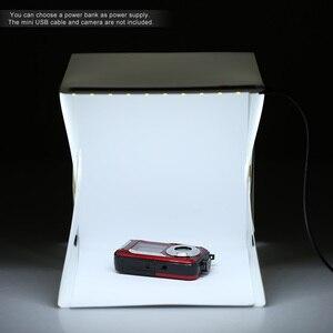Image 2 - 折りたたみポータブルミニ写真撮影ライトスタジオiphone samsang用lg htcスマートフォンデジタル一眼レフカメラ