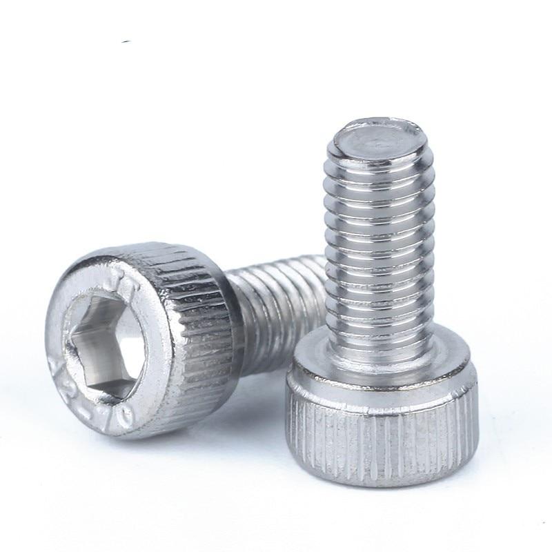 10pcs 1/4-20*3/8 1/2 5/8 2/1 Inch Length 304 Stainless Steel Us Unc Coarse Thread Allen Head Screw Cap Hex Hexagon Socket Bolt(China)