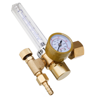 1pc Copper Gas Regulator Flowmeter Argon CO2 Mig Tig Flow Meter Welding Weld Gauge Argon Regulator Pressure Reducer