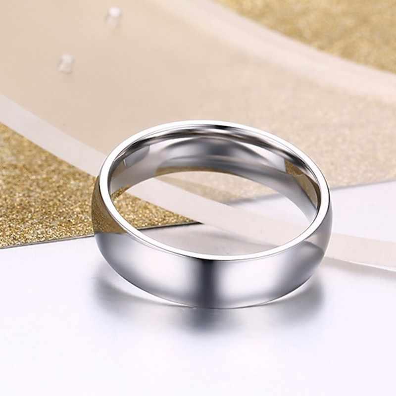 Vnox никогда не выцветает обручальные кольца для женщин и мужчин пара колец Нержавеющая Сталь Анти аллергия классические кольца для влюбленных подарок