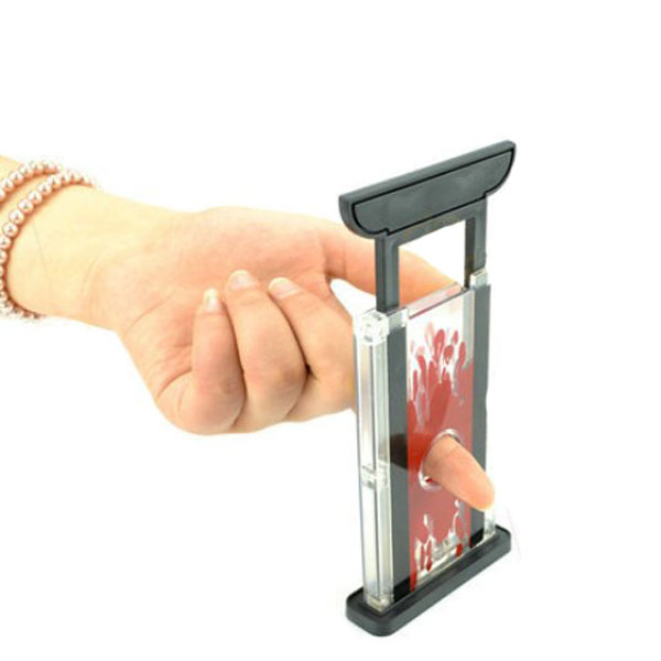 1pcs Magic Trick Supplies Toy Magics Props Tricks Toys Finger Cutter Chopper Guillotine Fingers Hay Cutter Tool For Kid Childern in Magic Tricks from Toys Hobbies
