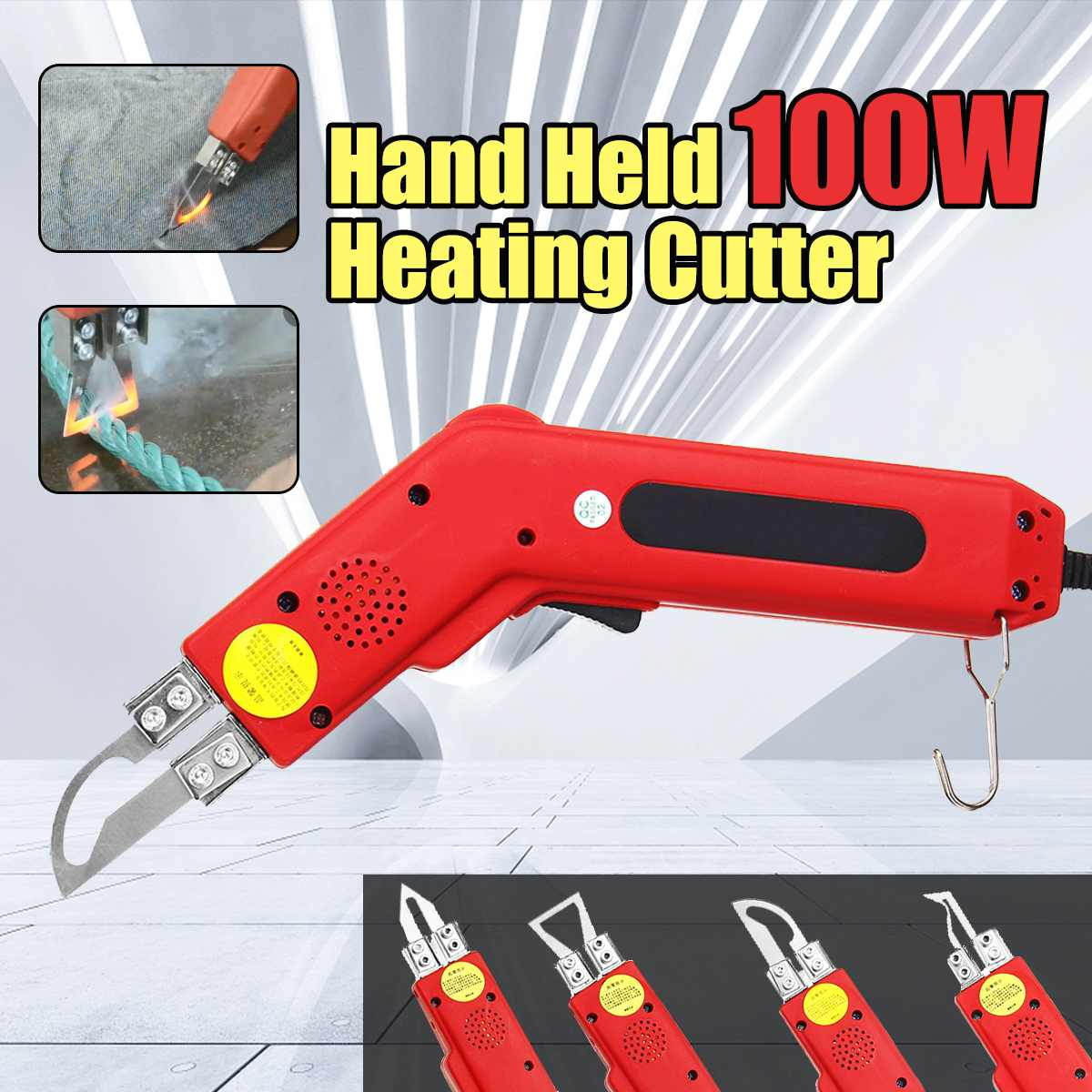 100W Hand Hold Heating Knife Cutter Hot Cutter Fabric Rope Electric Cutting Tools Hot Cutter New Arrival Knives     - title=
