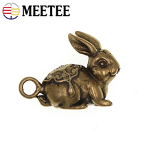 Meetee 1pc/2pcs 26X21mm Pure Brass Hanging Buckles Keychain Pendant DIY Manual Hardware Craft Decoration Accessory BF049