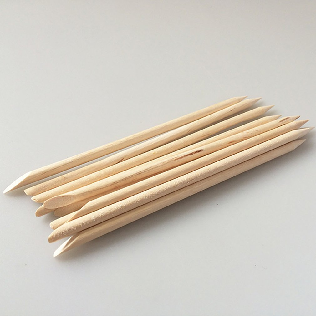 Begeistert 100 Pcs/set Holz Stick Häutchen Pusher Entfernen Nail Art Design Orange Holz Stock-häutchen-schieber-remover Maniküre Pflege