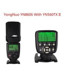 YONGNUO YN860Li Lithium Battery Manual Speedlight Flash with Yongnuo YN560TX II Flash Wireless Trigger for Canon Nikon Pentax цены онлайн