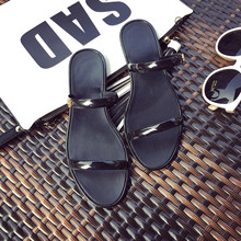 Woman Slipper Home Outdoor New Fashion Student Korean Non-slip Shoes Seaside Beach Cool Jelly Shoe Zapatos De Mujer PVC