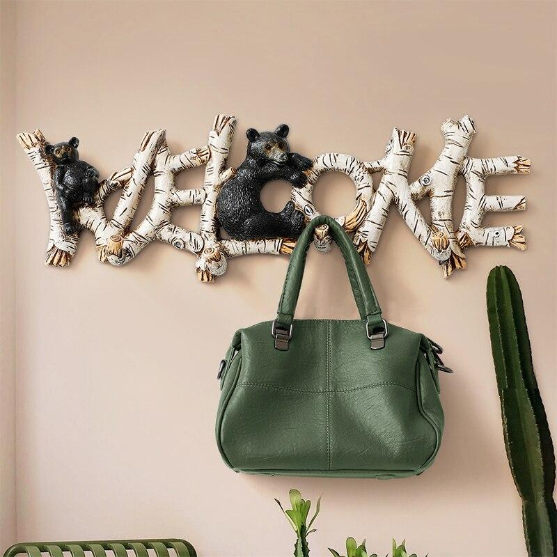 Crochets muraux décoratifs pour clés suspendus cintre designer porte-clés salon chambre résine décor à la maison crochet mural