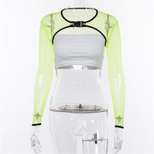 Women Mesh Sheer Tank Top Fishnet Hollow Out Crop Tops Solid Green Color Floral Clothes Large Size hollow out fishnet top