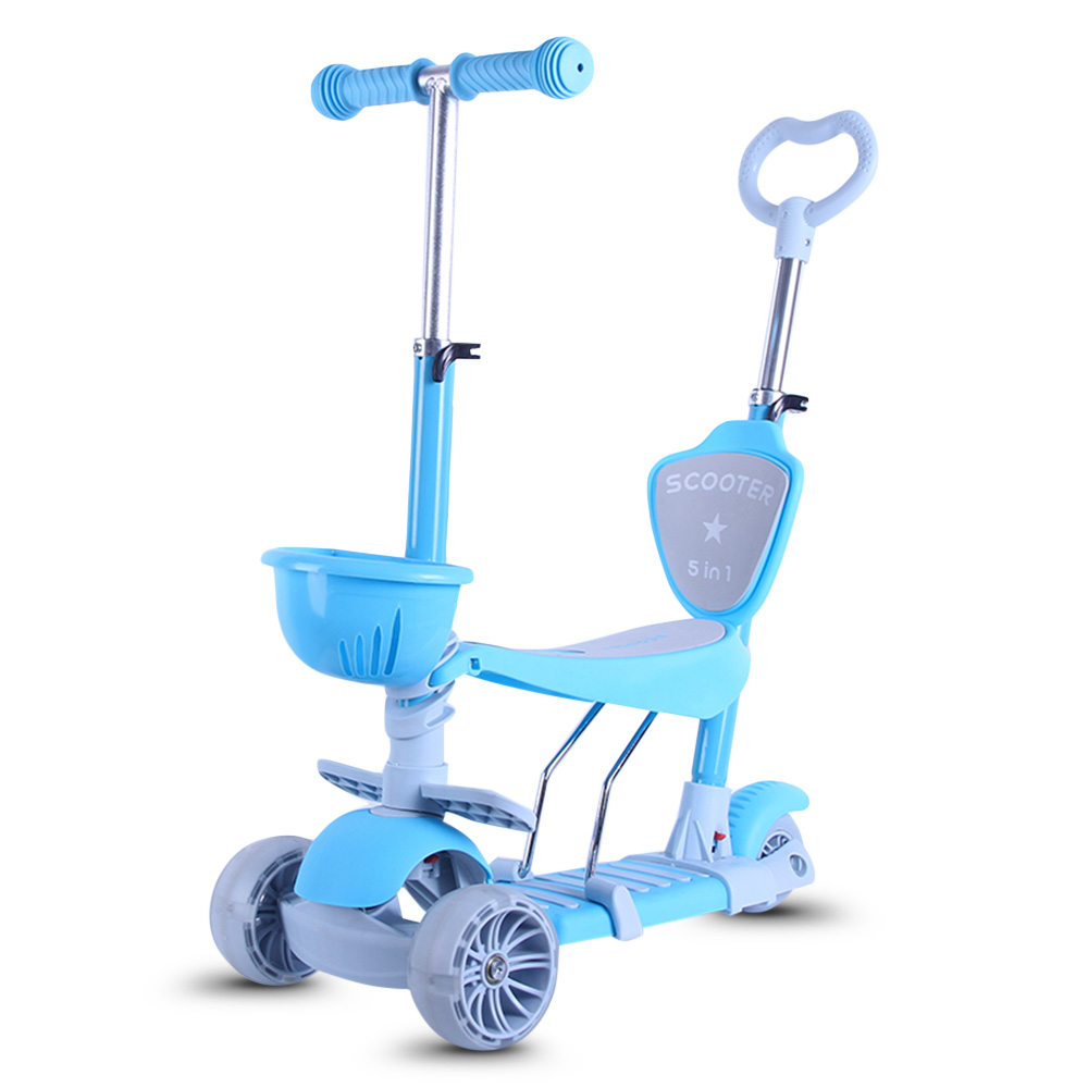 Children Scooter Tricycle Baby 3 In 1 Balance Bike Ride On Toys 3 Wheel Kick Scooter Removable Seat Adjustable Height For Kids children bicycle kids balance bike ride on toys for kids four wheels child bicycle kick scooter bike extra 2 usd coupon