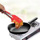 Salad Serving BBQ Tongs Non-Stick Kitchen Tongs Silicone Pizza Bread Steak Clip Stainless Steel Handle Utensil