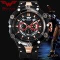 Мужские спортивные часы WOLF-CUB  с большим циферблатом  водонепроницаемые  с красным циферблатом  со стальным циферблатом  кварцевые наручные ...