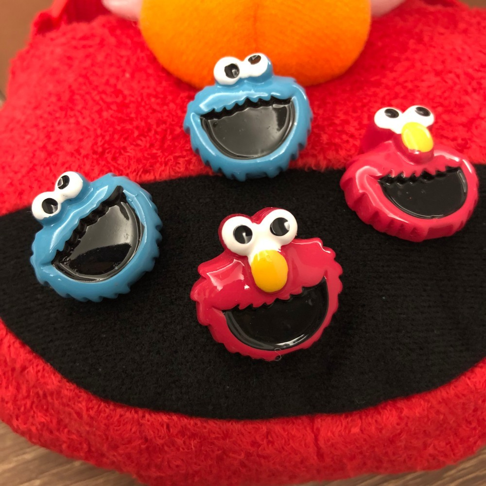US $1 5 |Sesame Street PVC action figure toy dolls model Clothing bag badge  garniture breastpin decoration cartoon anime Elmo gift-in Action & Toy