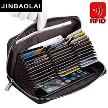 36 Cards RFID Blocking Travel Passport Cover wallet Credit Card Holder Purse Men Leather Zipper Wallet Women Business ID Holders new pu leather passport cover holder women men travel credit card holder travel id card document passport holder