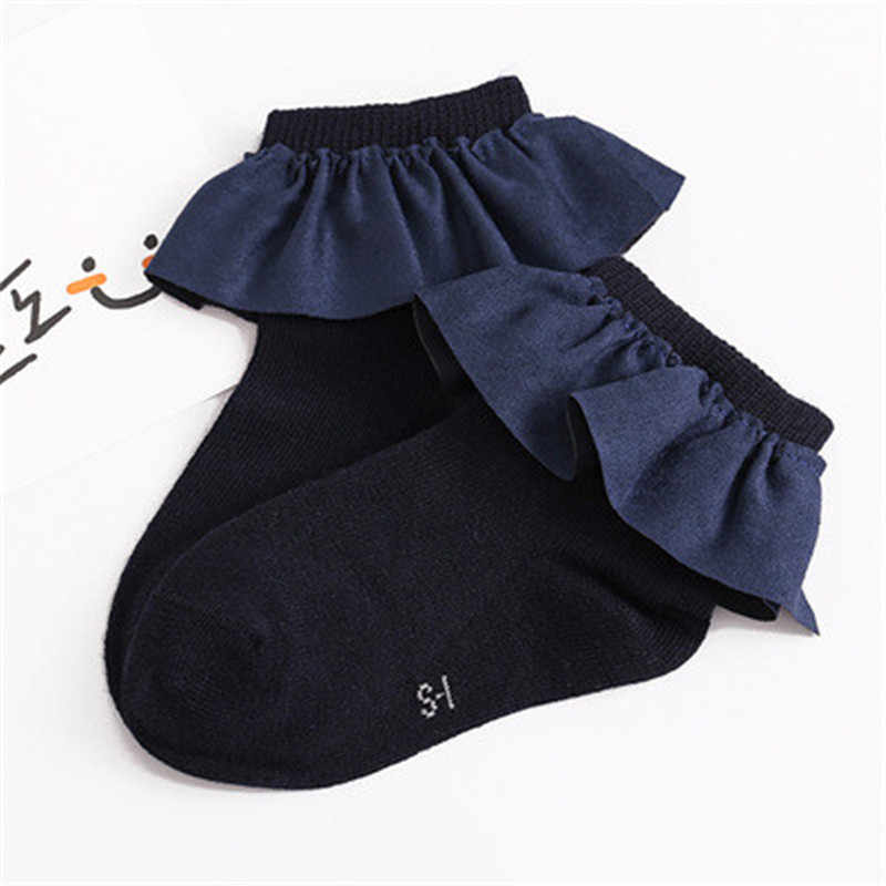 甘い暖かいフリル子供ショートソックスとレースウェルトおかしいハッピーニット幼児新生児幼児の靴下 2-8Y