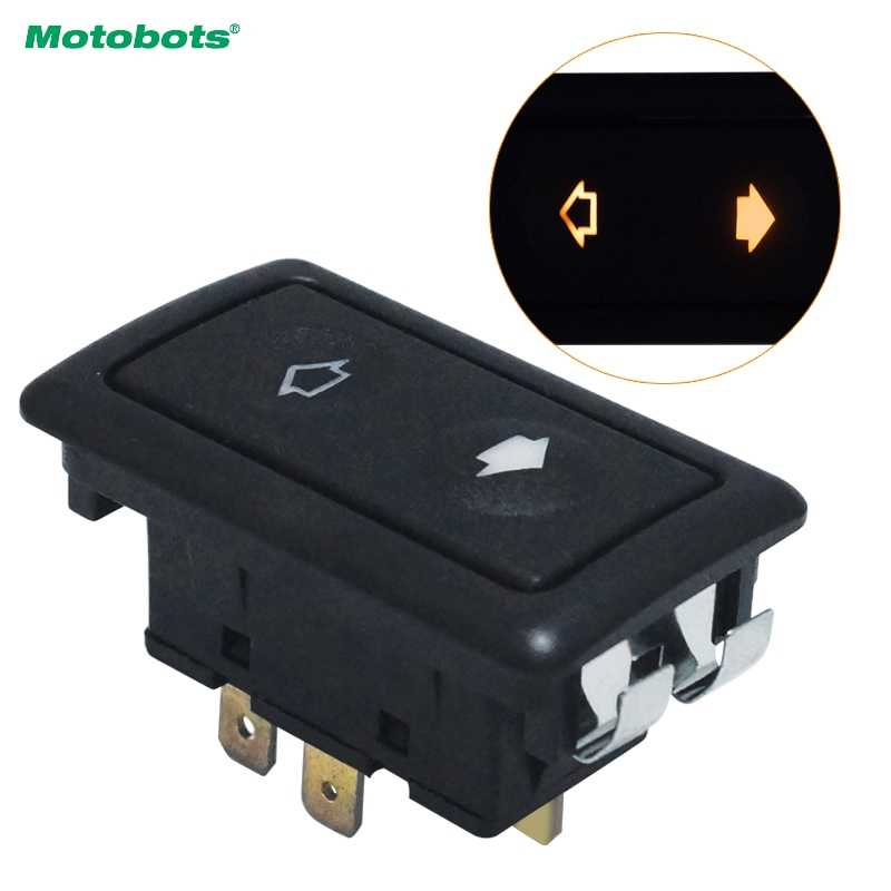 MOTOBOTS Universal Metallic Snap Clip-On 6Pins Auto Power Window Switch 10A~30A With illumination Indicator Single Button #5797