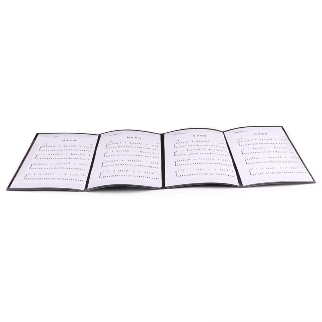 Нотная тетрадь папки фортепиано музыкальные клипы с тремя складками шесть страниц расширения